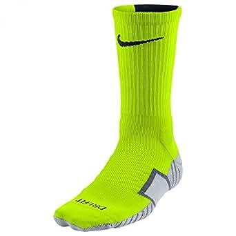 Nike Stadium Soccer Crew (Small (shoe size 3Y-5Y), Volt/Wolf Grey/Black)