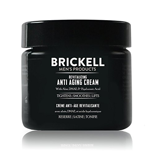 Brickell Men's Revitalizing Anti-Aging Cream For Men, Natural and Organic Anti Wrinkle Night Face Cream To Reduce Fine Lines and Wrinkles, 2 Ounce, Scented (Best Anti Aging Products For Black Skin)