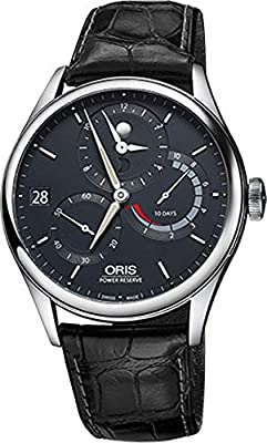 Oris Artelier Calibre 112 Blue Dial Stainless Steel on Leather Strap Mens Watch 11277264055LS from Oris