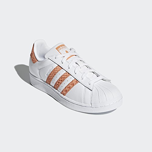 adidas Originals Women's Superstar W, White/Chalk Coral/Legacy, 8 M US
