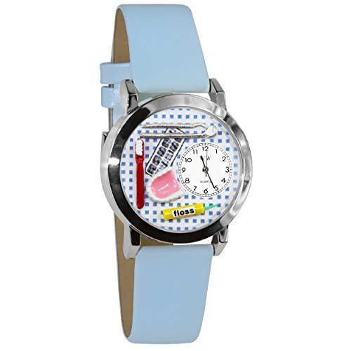 Whimsical Watches Women's S0610004 Dentist Baby Light Blue Leather Watch