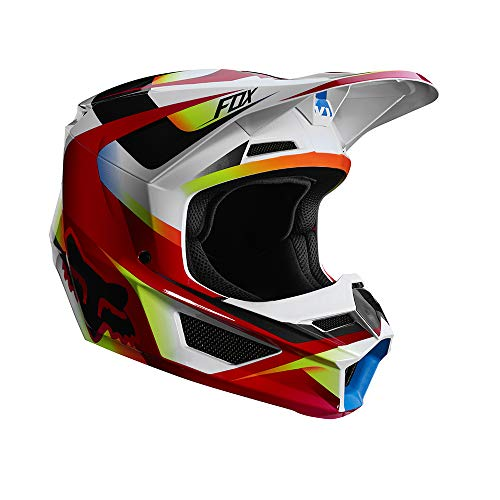 - Fox Racing 2019 Youth V1 Helmet - Motif (Medium) (RED/White)