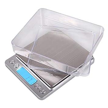 ZHANGYUGE Báscula de Precisión Digital Mini Pantalla LCD balanza electrónica Peso Pocket Escala café, té Joyas Escalas para Cocina,500G-0.01G: Amazon.es: ...