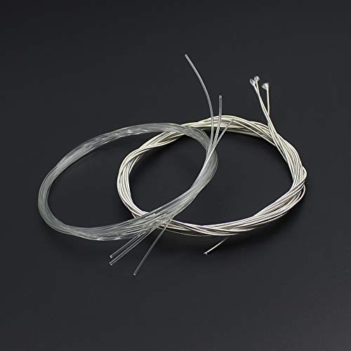 6 Pieces Classical Guitar Strings Nylon Silver Plated Copper Alloy Wrapped String for Classical Guitar