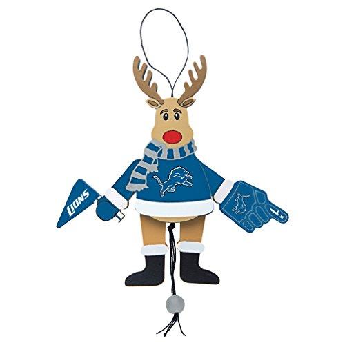 NFL Detroit Lions Wooden Cheer Ornament