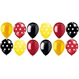 12 pc Mickey Mouse Inspired Polka Dot Latex Balloons Party Decoration Disney B