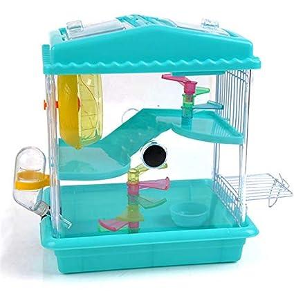 XIAOCONG Jaula para Mascotasuministros para Mascotas Hamster Jaula ...