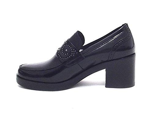 pelle A7102 mocassino 9052 donna nero scarpa Barachini nwA6UqFx
