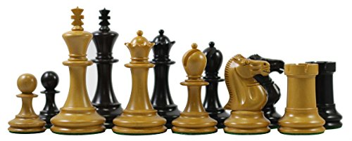 Jaques Reproduction Small Club Library 1867 Wooden 3.5'' Chess Set - Best Chess Board Game - Beginner Learning Teaching Professional Optimal Weighted Chess Pieces, for Players and Collectors