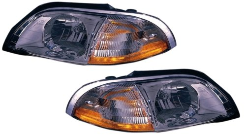 Ford Windstar Headlight Assembly - 1999-2003 (1999 2000 01 02 03) Ford Windstar Headlight Assembly - One Pair (Both Driver and Passenger Sides) - DOT Certified Headlamps
