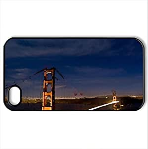 san francisco - Case Cover for iPhone 4 and 4s (Bridges Series, Watercolor style, Black)
