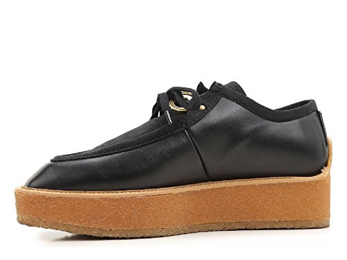 Stella McCartney zapatos para mujer con cordones de encaje negro - Número de modelo: 430851 W0MW6 1000 negro