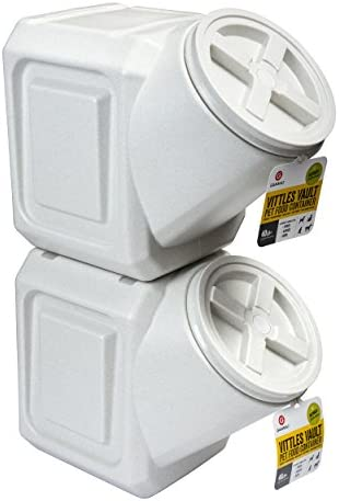 Vittles Vault Contenedor de comida para mascotas apilable herméticamente Warm Granite 40 Lbs 4
