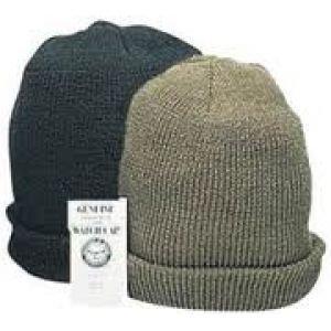 Military Surplus Watch Cap, Hat, Black, Adult, H5030B