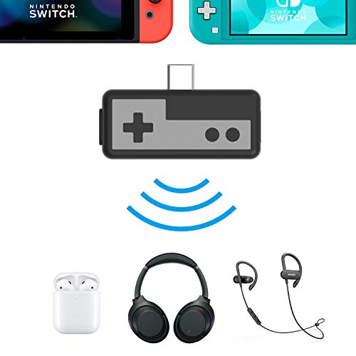 Rayvol Bluetooth Adapter For Nintendo Switch & Lite & PS4, Connect AirPods  Bose Sony All Wireless Headset & Headphones, Audio Transmitter, Pass  Through Charging, W/Qualcomm APTX Low Latency - Gear Up To