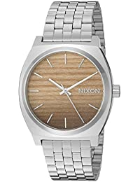 Nixon Men's 'Time Teller' Quartz Stainless Steel and Leather Casual Watch, Color:Silver-Toned (Model: A0452457-00)