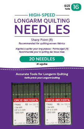 (Handi Quilter Longarm Quilting Needles - High-Speed Sharp Point (R) Size 16 (Pack of 20))