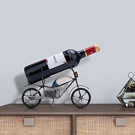 NXYJD Retro de la Motocicleta Estante del Vino de Mesa decoración del Arte Creativo Estante del Vino Robusto IronHandmade Craft de Almacenamiento en Rack Decoración for el Hogar