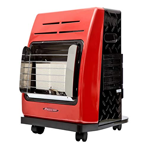 Pro-Temp PT-18-PCH-A 18,000 BTU LP Cabinet Heater, 1, Red/Black
