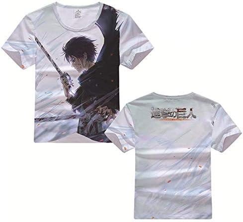 만화 「 진격의 거 인 」 진격의 거 인 3D 프린트 T 셔츠 남녀 공통 반 팔 여름 티 / Anime [Attack on Tita
