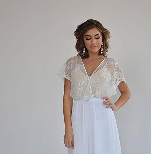 lace simple wedding dresses,