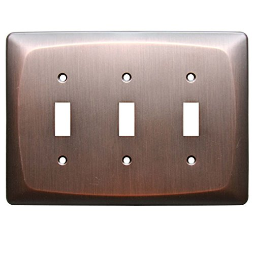 allen + roth 3-Gang Dark Oil-Rubbed Bronze Standard Toggl...