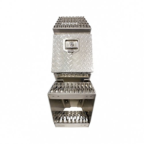United Pacific Heavy Duty Aluminum Semi Truck Side Storage Saddle Step Box / 25