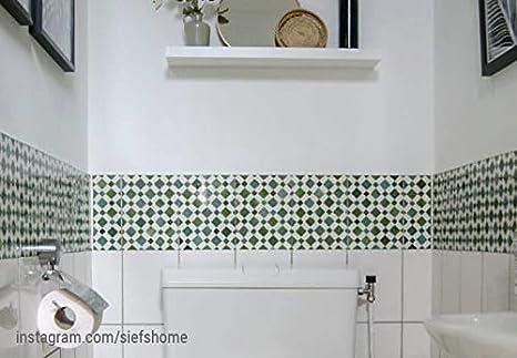 Fliesenaufkleber Antike Bord/üre Fliesen Sticker Aufkleber selbstklebend Kacheln historisch nostalgisch Ornament Wall-Art 10-e 15x15 cm