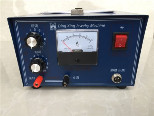 Jewelry laser welding machine Spot Welder Gold Silver with Handle tool 110V 400W by cjc