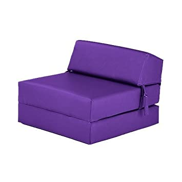 Astounding Purple Faux Leather Single Fold Out Foam Z Bed Guest Ibusinesslaw Wood Chair Design Ideas Ibusinesslaworg