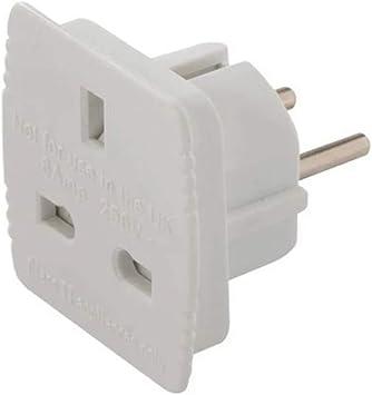 Power Master 171631 - Adaptador de viaje UK (RU) a EU (UE), 220 - 240 V: Amazon.es: Bricolaje y herramientas