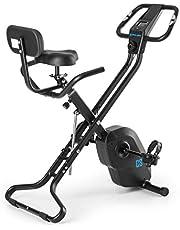 Capital Sports Azura X1 X-Bike - ergometer, hartslagmeter, 8 niveaus weerstand, 7 niveaus verstelbaar, rugleuning, max. 120 kg, zwart