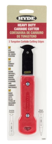 Hyde Tools 19408 Heavy-Duty Carbide Cutter with 3 Blades (Durock Cement Board)