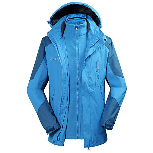 Per Donna Tuta Esterno Sky Blue Cappotto Uomo Escursionistica Rimovibile fyY67bgv