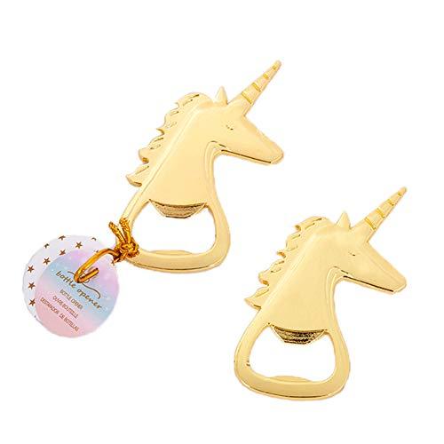 Sgift Unicorn Bottle Opener Wedding Favor, Unicorn Beer Opener Gold Heavy Duty,Beer Bottle Opener Gift,Unicorn Opener Gifts – 2PACK For Sale