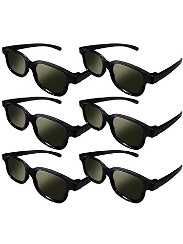 Lot of 6x RealD Technology 3D Polarized Glasses for TV/Movies/Cinema/HD