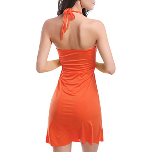 Hee Grand Femmes Robe De Plage FR 42/44(CN XL) Orange