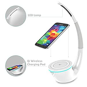 TPC© Nillkin Phantom Magic Lamp Wireless Charger con Lampara de LED, Base Carga Inalambrica Inductiva Universal QI