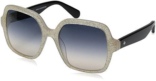 Kate Spade Women's Katelee/s Square Sunglasses, OPAL GOLD GLITTER/BLUE GRADIENT PEA, 54 ()
