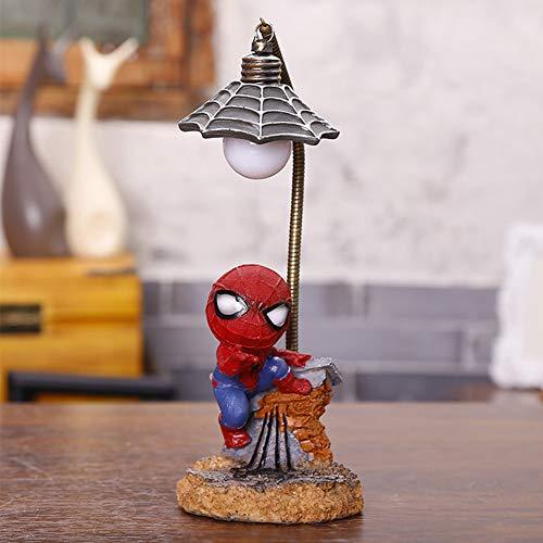 Spiderman Resin Ornament/Toys for Children/Home Decoration Birthday Gift/Super Hero Spiderman Mini Night Light (Spiderman-B)¡