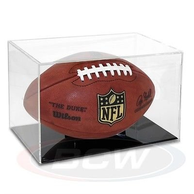 Grandstand Full Size Football Cube Display Holder - 98% UV Protection - Sports Memorabilia Display Case