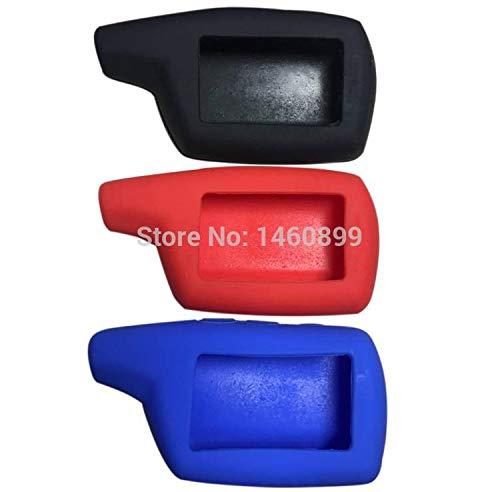 (Key Case DXL 3000 Silicone Keychain Case For 2 Way Car Alarm System Pandora DXL3000 DXL3100/3170/3210 LCD Remote Control Key Fob Trinket - (Color Name: Blue))