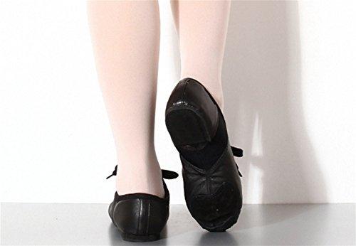 jazz nacional Zapatos de 34 de baile baile fondo de Zapatos adultos black Zapatos Zapatos XW 40 rojos de de suaves WX para Zapatos cuero interiores vqw5T6