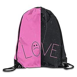 ONGH Hombres Mujeres Brave Lil Love-Peep Gimnasio Cordón con cordón Mochilas Bolsas de Hombro Mochila Deportiva Mochila…