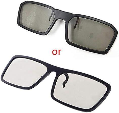 Werst - Gafas 3D polarizadas pasivas Circulares con Clip para TV Real 3D Cinema 0,22 mm: Amazon.es: Electrónica