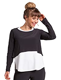 Sympli Womens Shorty Top Long Sleeves