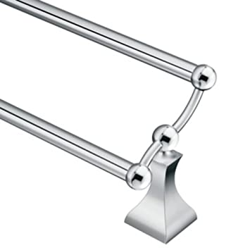 Moen DN8322CH Retreat 24 Inch Double Towel Bar, Chrome