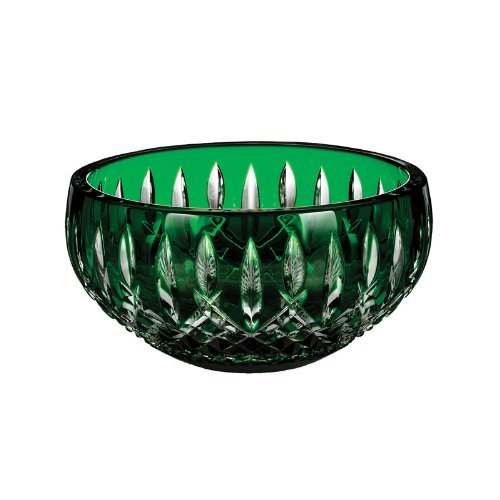 (Waterford Crystal Araglin Prestige Bowl Emerald Green 7