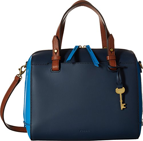 Fossil Women's Rachel Satchel Cerulean Blue One Size by Fossil