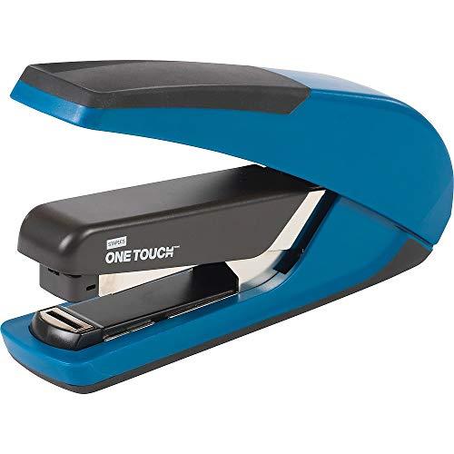 - Staples 207438 One-Touch Plus Desktop Stapler Full-Strip Capacity Blue (25112)